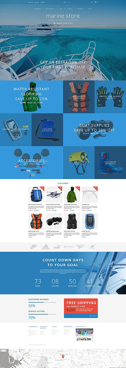 Marine Product & Equipment Online Store #OpenCart #webtemplate #themes #business #responsive #template