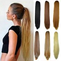 Wish | Women's 22 Inches Long Straight Claw Clip Ponytail Hair Extensions