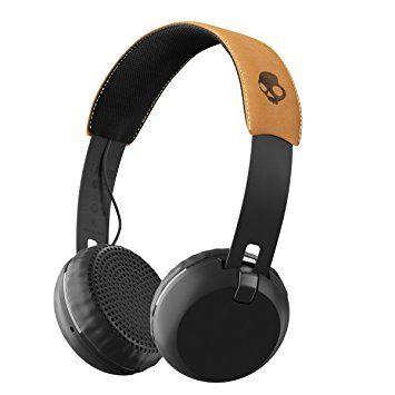 Skullcandy オンイヤー型ワイヤレスヘッドホン Bluetooth対応 GRIND WIRELESS BLACK/TAN 【国内正規品】  A5GBW-J543