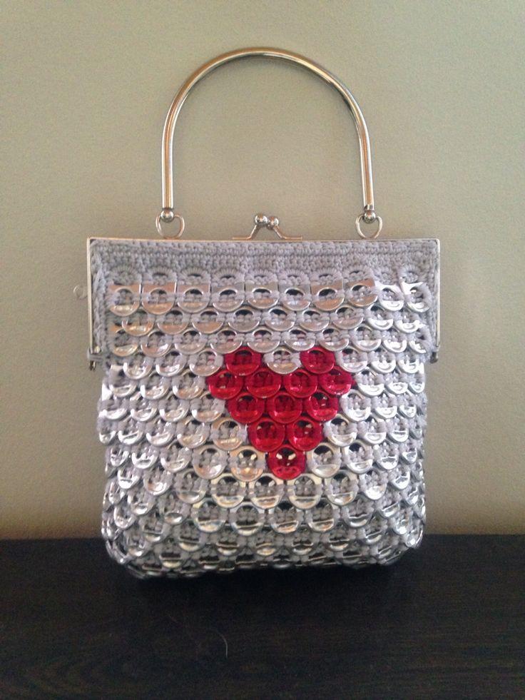 Small heart soda tab purse