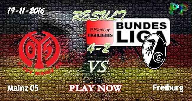 Mainz 05 4 - 2 SC Freiburg 19.11.2016 HIGHLIGHTS - PPsoccer