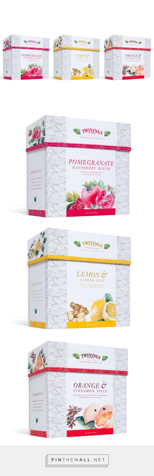 Twinings Tea Packaging (Concept) by Alicia Coleman. Source: Behance. Pin curated by #SFields99 #packaging #design