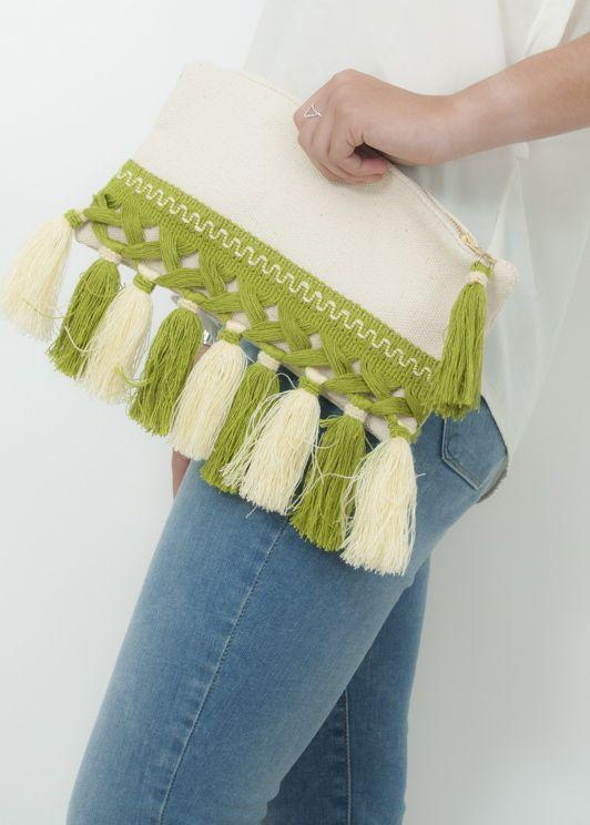 Bolso pochette verde