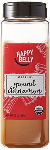 Happy Belly Organic Cinnamon, Ground, 16-Ounce - Our Organic Ground Cinnamon, also known as organic Korintje cinnamon, has the essence of cinnamon flavors with a warm, spicy, and sweet flavor profile. Our cinnamon is conveniently dehydrated and ground, perfect for adding flavor to your recipes. Sauté with lamb, eggplant, and raisins for Middle ...