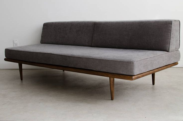 George Nelson for Herman Miller Daybed, 1950s | From a unique collection of antique and modern day beds at https://www.1stdibs.com/furniture/seating/day-beds/