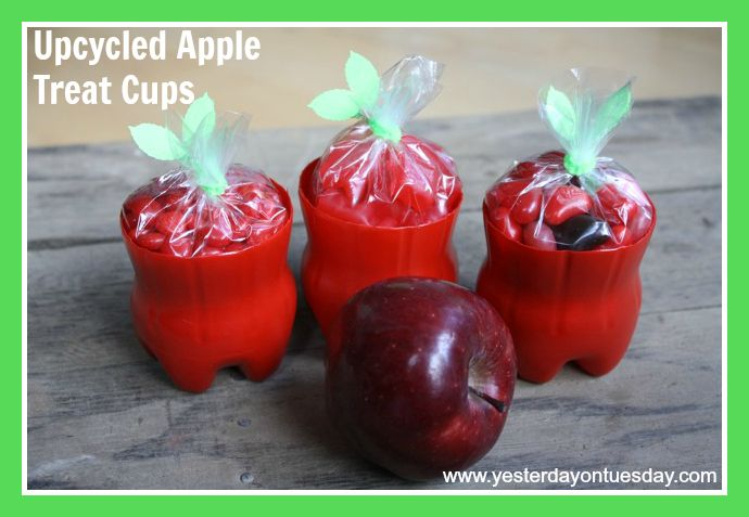 Upcycled Apple Treat Cups made from plastic coca-cola bottles  - by  Yesterday on Tuesday