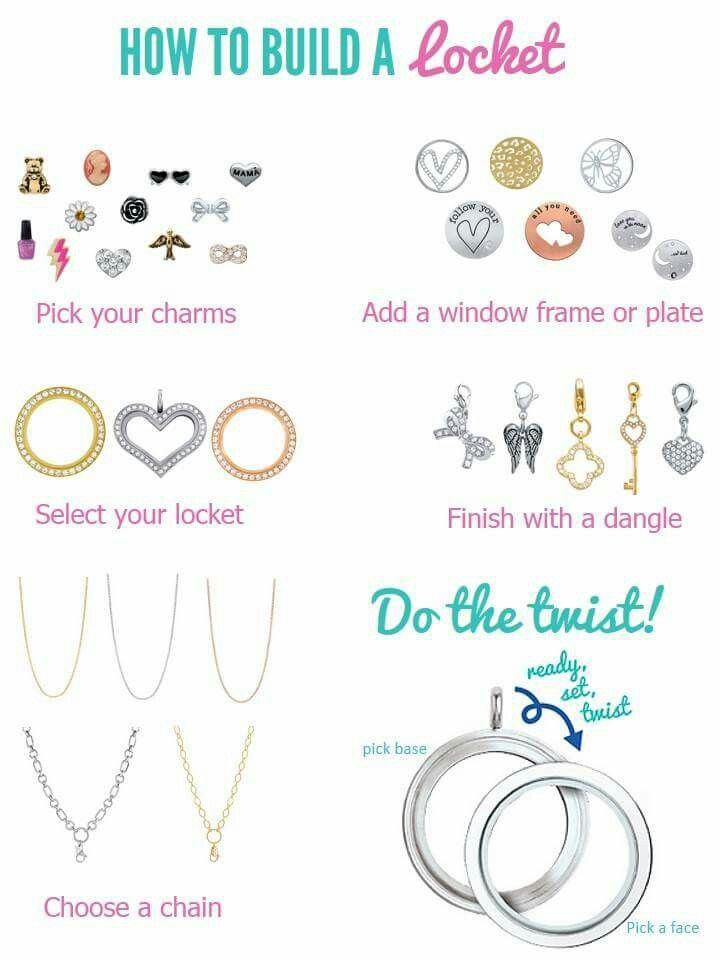 Origami Owl How to Build a Locket Tell your story with Origami Owl order at www.suewatson.origamiowl.com