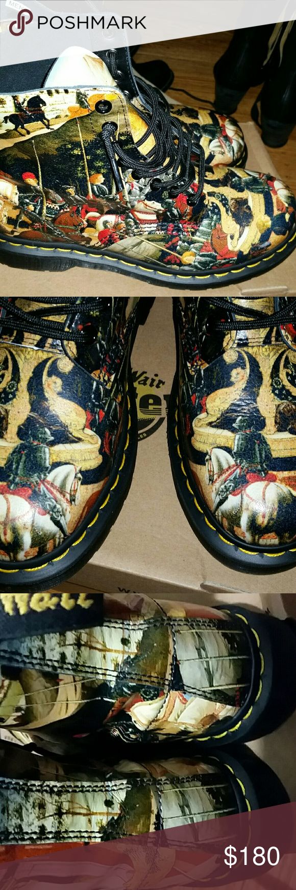 Dr Marten D'Antonio Renissance w10/m8 Never worn.marked a UK 7 but fit my women's sz 10 men's 8. I ordered the wrong print! Dr. Martens Shoes Combat & Moto Boots