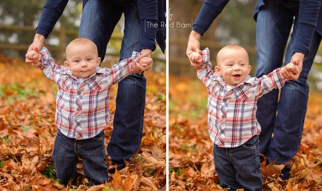 6 month old baby baby boy fall baby photos Portland Children's Photographer ~ 6 months » the red barn photography