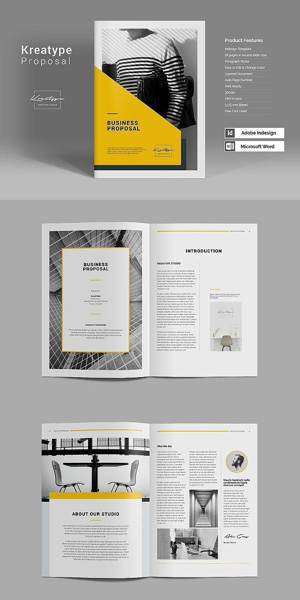 Kreatype Proposal Book Design Layout Brochure Design Layout