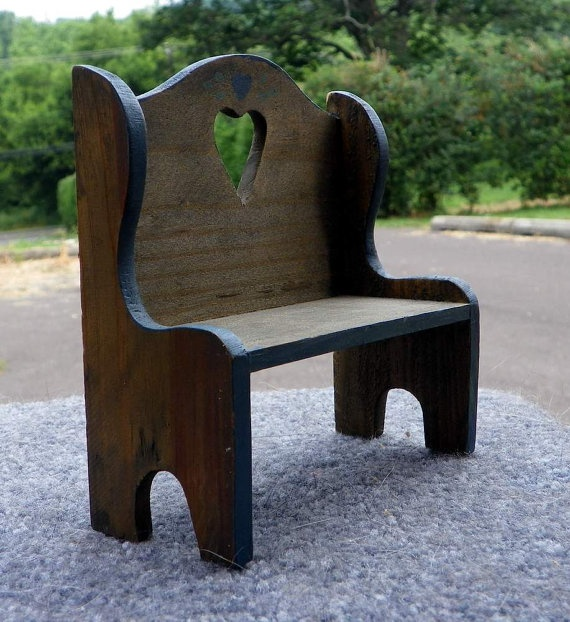1000 Ideas About Deacons Bench On Pinterest: Vintage Miniature Wooden Deacon Bench Dollhouse By