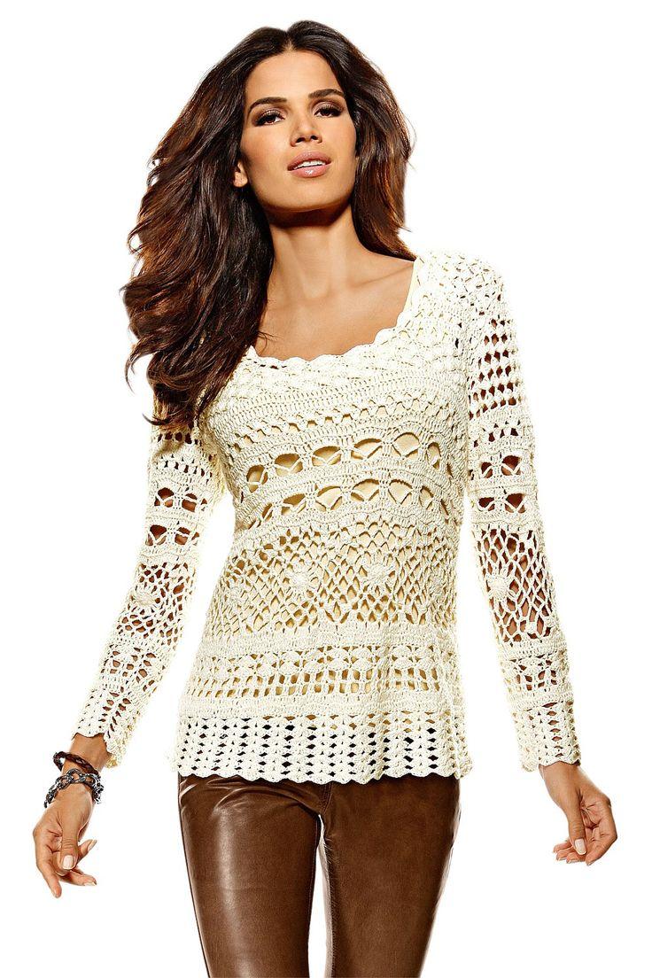 crochet clothes for women | Women's Tops - Heine Crochet Top - EziBuy Australia
