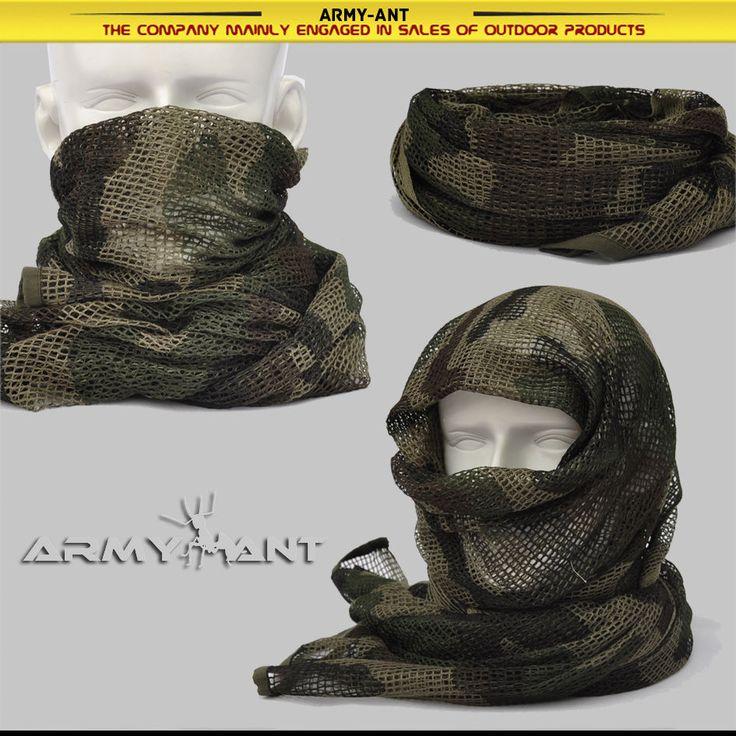 Italiano de 3 Colores Camo 1st patrón cubierta de malla Bufanda Envolvente Máscara Shemagh Francotirador Velo   Objetos de colección, Objetos militares, Excedentes   eBay!