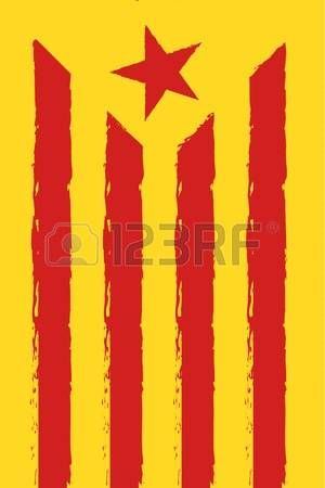 Catalonia national flag red and yellow color Independence Day vector background  Stock Vector