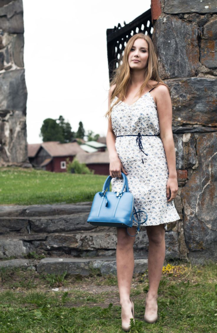 FIFTH MAY Alice leather bag blue
