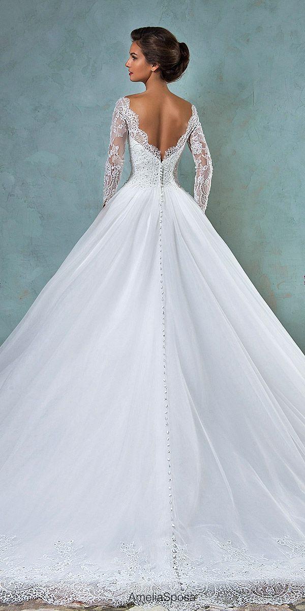 Wedding Ball Gowns By Ameli Sposa Andamp; Ronald Joyce ❤ See more: http://www.weddingforward.com/wedding-ball-gowns/ #weddings