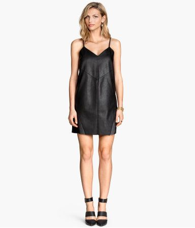 I have a faux leather dress similar to this and love it! So easy to wear and dress up or down, flirty or edgy.  I need more of these in my life.  H&M US