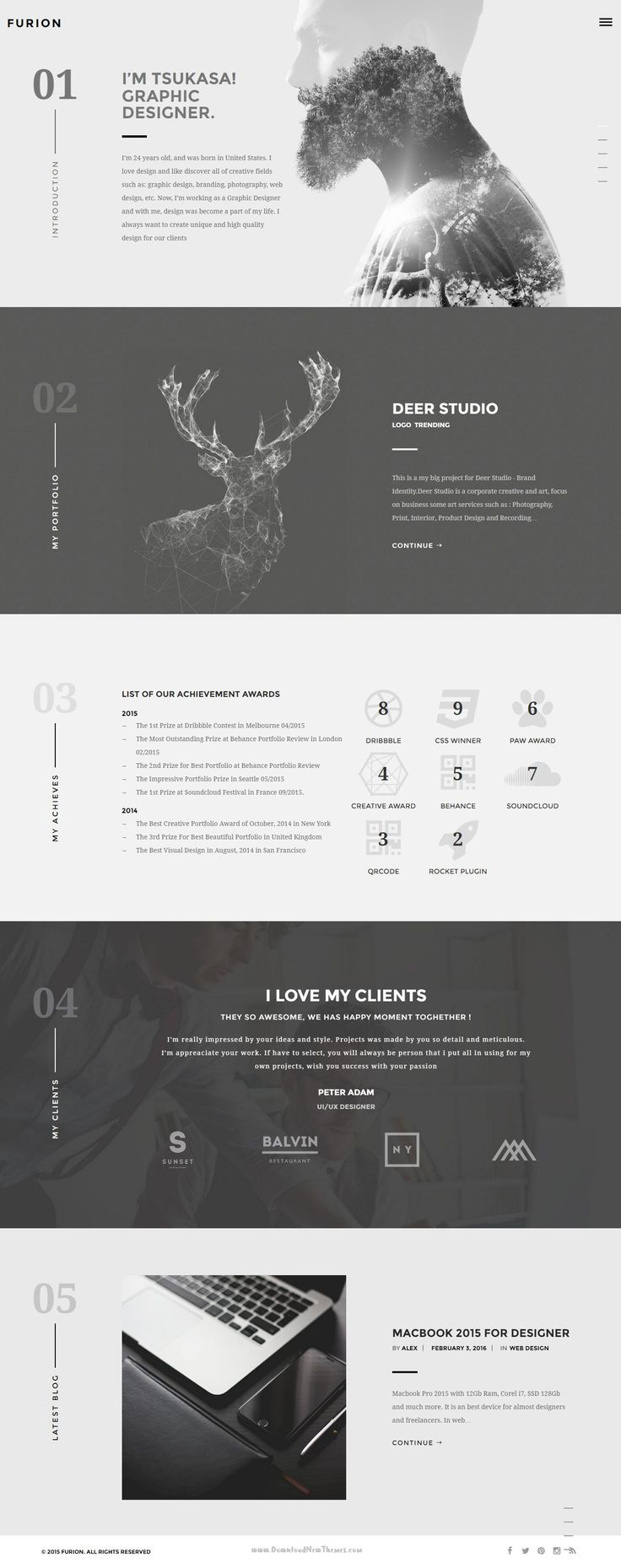 Furion - Creative Blog & Portfolio WordPress Theme > It's specifically designed to create charming, minimal blog and portfolios which give an unforgettable impression to potential customers and employers. #WordPressBlog #creativetheme Download Now➝ http://themeforest.net/item/furion-creative-blog-portfolio-wordpress-theme-/14825591?ref=Datasata