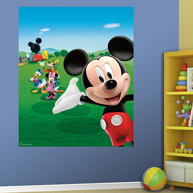 Mickey Mouse Clubhouse Mural. Mickey Mouse Wall DecalsMickey ...
