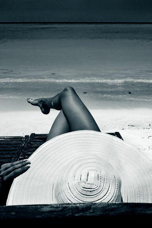 Schwarz-Weiß-Stimmung am Strand … würde so ein…