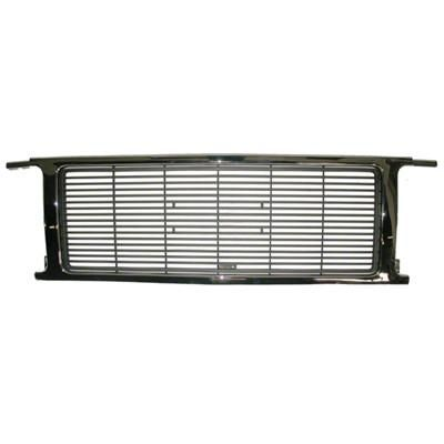 1989-1991 GMC Jimmy GRILLE; CHROME/SILVER; FOR MODELS WITH QUAD HEAD LIGHTS
