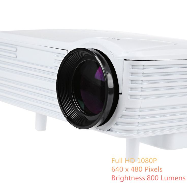 H80 Projector 640 x 480 Pixels 800 Lumens Full HD Projector Home Theater 1080P Projection Mini LED Video Proyector