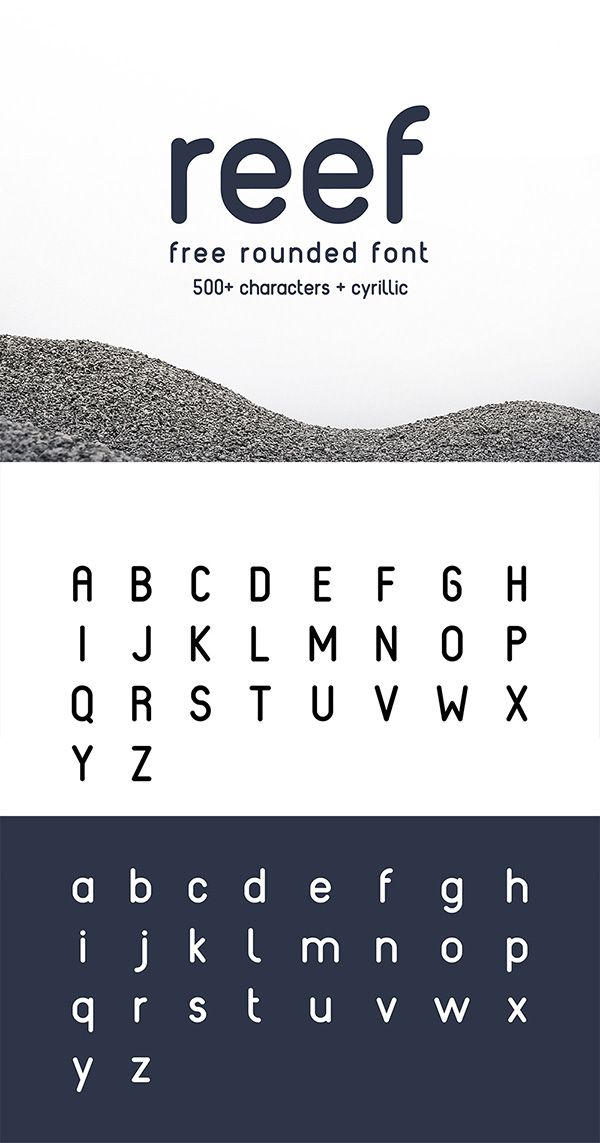 Reef - Rounded Font