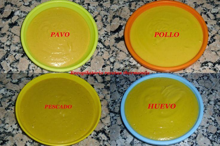 Cocina Niveles: Potitos de 4 sabores (pollo, pavo, merluza, huevo)