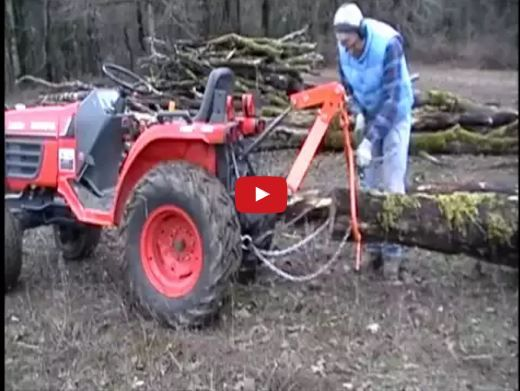 small tractor log skidding implement
