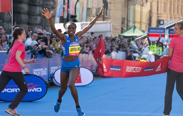 Four World Records Fall During Prague Half Marathon Joyciline Jepkosgei became the first woman to break 65 minutes for 13.1 miles, running 4:56 per mile pace