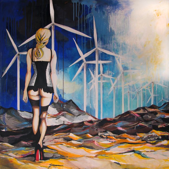GaeTano and Valentina, Non fermarti adesso, © 2013, acrilico su tela, 100 X 100 cm.  #pittura #art #painting #arts #GaeTanoAndValentina #AcrylicOnCanvas #scenographTwoArt #SCENOGRAPH2ART #GaeTanoeValentina #visualart #canvas #sem #acrylic #peinture #ceruleo #dipinti #monza #italy
