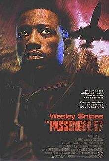 """Ever play roulette? Always bet on black!"" Terrorist Rane (Bruce Payne) picks the wrong plane to get on; Ex-cop Cutter (Wesley Snipes), now a karate instructor for flight attendants, is on board. Directed by ""Morris Thorpe"" (""Prison Break"")."