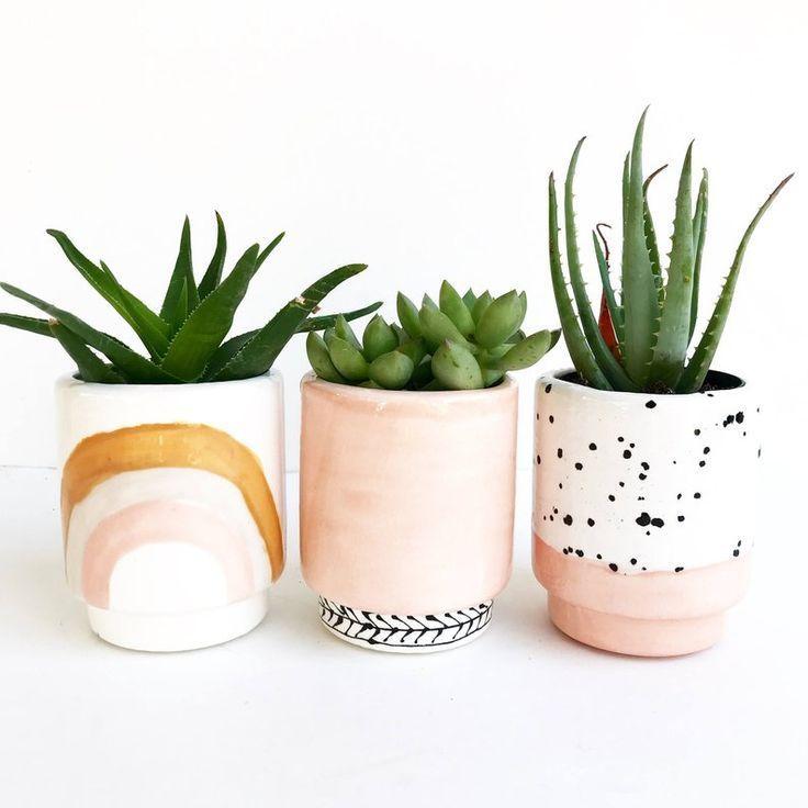 Rainbow Ceramic Planters Pots Etsy Handmade Ceramic Planters Ceramic Succulent Planter Ceramic Planter Pots