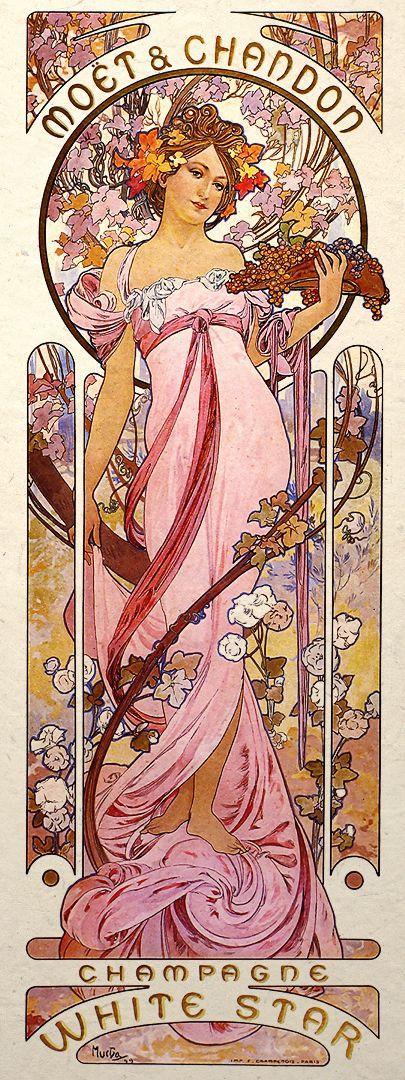 Details about art nouveau print alphonse mucha wall poster - Art deco et art nouveau ...