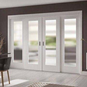 These easi slide white full pane sliding doors for 90 sliding patio door