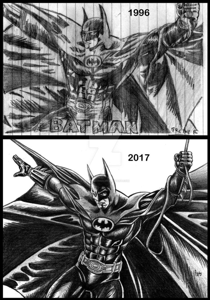 Batman Antes y despues by SeishinKonno.deviantart.com on @DeviantArt