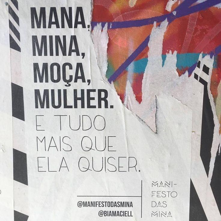 Sim a mulher pode ser o que ELA quiser!  : @manifestodasmina e @biamaciell