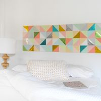 "Create a Gorgeous Geometric Paper Patchwork for Your Wall+(via+<a+href=""http://craft.tutsplus.com/tutorials/paper-crafts/create-a-gorgeous-geometric-paper-patchwork-for-your-wall/"">craft.tutsplus.com)"