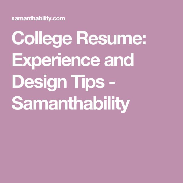 Best 25+ College resume ideas on Pinterest Resume tips, Resume - how to make a college resume