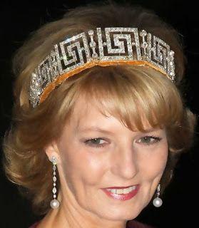Tiara Mania: Romanian Meander Tiara worn by Crown Princess Margarita of Romania