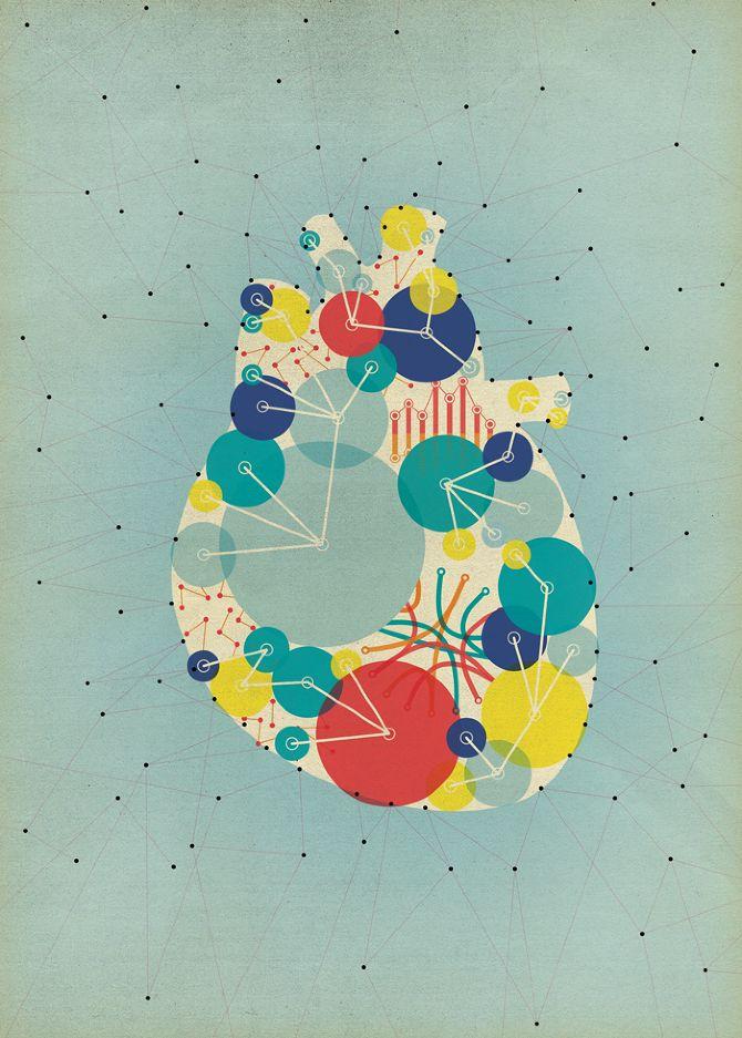 Beautiful Eric Nitzsche-like heart illustration by illustrator Gavin Potenza.