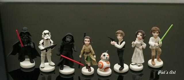Polymer clay, masa flexible, cold porcelain, fimo, cernit, porcelana fria, biscuit Star Wars