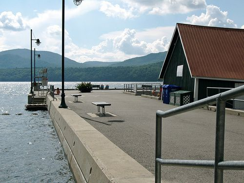 The marina dock in Georgeville, on Lake Memphremagog, QC.  How I miss it there. A truly amazing place.