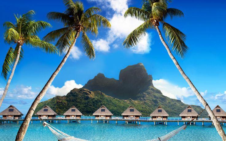Wallpaper Bora Bora Polinezia Franceză