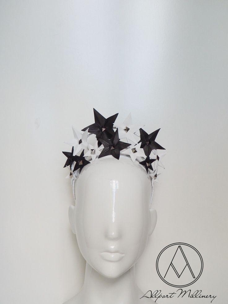 Stargazer - Black/White / Allport Millinery