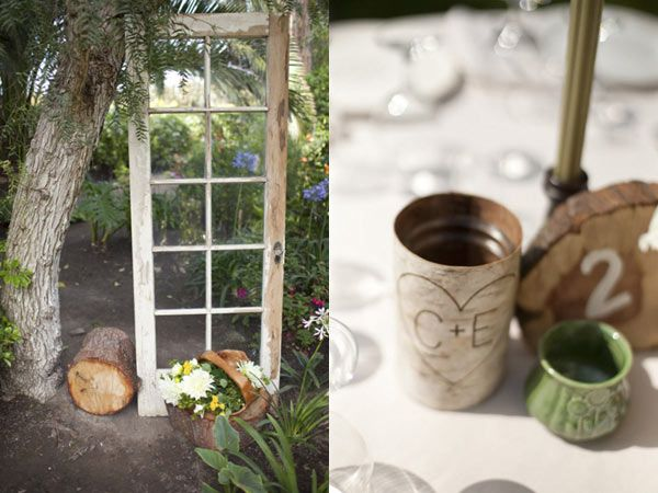 Rustic Wedding.  Love the door - could use something similar as backdrop for ceremony.