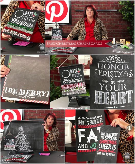 Inspired by Pinterest Show: IBP Faux Christmas Chalkboards with Lori Allred