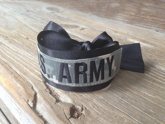 military acu name tape U.S. ARMY bracelet / Army Wife / Army Girlfriend / Army Mom / Army Sister on Etsy, $10.50