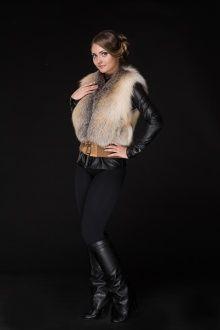 Меховые жилеты фото и цены. Купить жилетку или накидку в Москве.