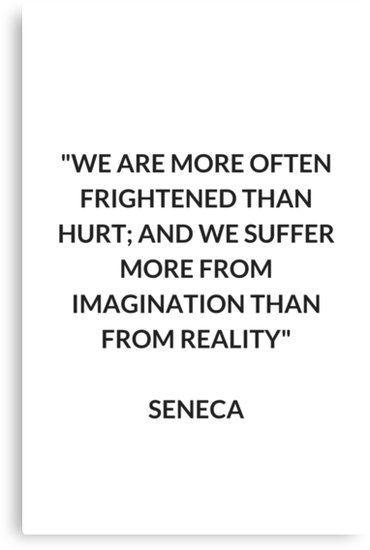 'SENECA Stoic Philosophy Quote' Canvas Print b…